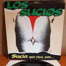 Discos de vinilo: LOS SUCIOS / SUCIA QUE RICA SON / MAXI SG - WILD RECORDS-1990 / MBC. ***/***. Lote 221650946