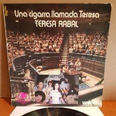 Discos de vinilo: TERESA RABAL / UNA CIGARRA LLAMADA TERESA / LP - BELTER-1979 / MBC. ***/***. Lote 221651592