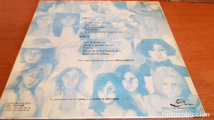 Discos de vinilo: TONI SUBIRANA / TODAS LAS DEMÁS Y TÚ / LP - JUSTINE RECORDS-1990 / MBC. ***/*** LETRAS / LEER - Foto 2 - 221652450