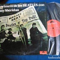 Discos de vinilo: BEATLES LO PRIMERO CON TONY SHERIDAN DOBLE LP CON EL ENVOLTORIO DE COMPRA NUEVO EXCELENTE POLYDOR. Lote 221654913