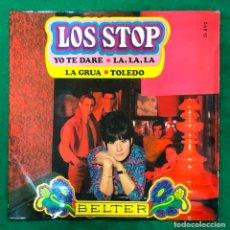 Discos de vinilo: LOS STOP - YO TE DARÉ / LA, LA, LA / LA GRÚA / TOLEDO ...EP BELTER DE 1968 RF-4595 , BUEN ESTADO. Lote 221655696