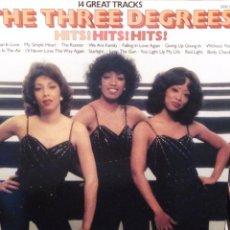 Discos de vinilo: THE THREE DEGREES , HITS HITS HITS , 14 GREAT TRACKS PICKWICK 1981. Lote 221657421