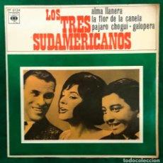 Discos de vinilo: LOS 3 TRES SUDAMERICANOS - ALMA LLANERA - EP CBS DE 1966 RF-4605. Lote 221657627
