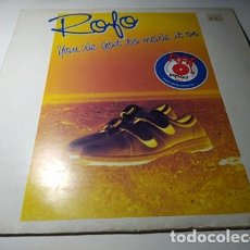 Discos de vinilo: MAXI - ROFO ‎– YOU'VE GOT TO MOVE IT ON - INF 12504 ( VG+/ VG+) BELGICA 1984. Lote 221657663