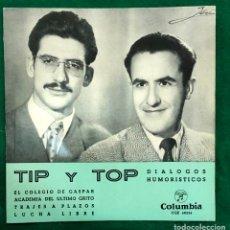 Discos de vinilo: TIP Y TOP - EL COLEGIO DE GASPAR + 3 EP COLUMBIA RF-4610 , BUEN ESTADO. Lote 221658553