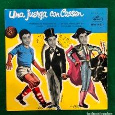 Discos de vinilo: UNA JUERGA CON CASSEN. INTERFERENCIAS RADIOFONICAS. EN ESTE MUNDO TRAIDOR.....EP REGAL RF-4612. Lote 221658835