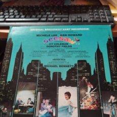 Discos de vinilo: CY COLEMAN, MICHELE LEE, KEN HOWARD LP SEESAW (ORIGINAL BROADWAY CAST RECORDING) USA PORTADA DOBLE. Lote 221660161