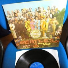 Discos de vinilo: BEATLES LP SGT.PEPPER EMI ODEON ESPAÑA REFERENCIA 1J LABEL AZUL FUERTE MUY BUENA CONSERVACION. Lote 221660653