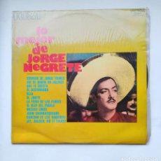 Discos de vinilo: JORGE NEGRETE. LO MEJOR DE JORGE NEGRETE. LP. TDKLP. Lote 221661053