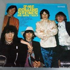 Discos de vinilo: LP ROLLING STONES - BIG HITS VOL.2 / 1969 ORIG. SPAIN DECCA 7509 / 6 STARS POKORA!!! LP RARÍSIMO!!!!. Lote 221661315
