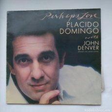 Discos de vinilo: PLÁCIDO DOMINGO - PERHAPS LOVE WITH JOHN DENVER. LP. TDKLP. Lote 221661448