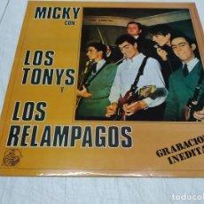 Discos de vinilo: MICKY CON LOS TONYS, LOS RELÁMPAGOS- GRABACIONES INÉDITAS. Lote 221664842