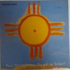 Discos de vinilo: PAUL MCCARTNEY... OU EST LE SOLEIL? (PARLOPHONE – MPL 1989) SPAIN.. Lote 221665135