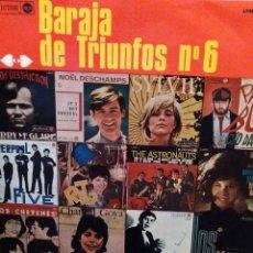 Discos de vinilo: BARAJA DE TRIUNFOS 6: LIVERPOOL FIVE,CHEYENES,LOS MATEMATICOS,DALLA,VARTAN,PAVONE RCA VICTOR - 1966. Lote 221666991
