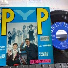 Discos de vinilo: LOS P Y P EP LOS WATUSSI + 3 1964. Lote 221689182