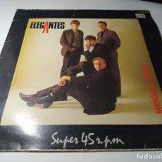 Discos de vinilo: MAXI - LOS ELEGANTES ?– MANGAS CORTAS - OOS- 633 ( VG+ / VG+) SPAIN 1984. Lote 221697442