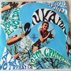 Discos de vinilo: IUKAIDI - ANEM GRUMET + 3 TEMAS ALS 4 VENTS - 1967. Lote 221699292