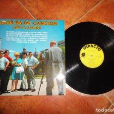Discos de vinilo: LOS 5 LATINOS AMOR ES MI CANCION LP VINILO 1975 ESPAÑA IMPACTO CONTIENE 12 TEMAS. Lote 221699607