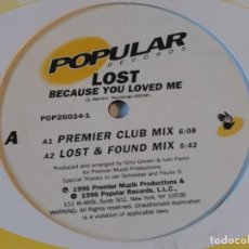 Discos de vinilo: LOST - BECAUSE YOU LOVED ME - 1997. Lote 221701115