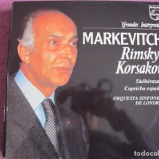 Discos de vinilo: LP - GRANDES INTERPRETES - MARKEVITCH (RIMSKY-KORSAKOV-SHEHERAZADE/CAPRICHO ESPAÑOL). Lote 221703052