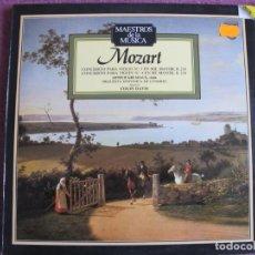 Disques de vinyle: LP - MAESTROS DE LA MUSICA - MOZART - CONCIERTOS PARA VIOLIN Nº 3 Y 4 (SPAIN, PHILIPS 1988). Lote 221705161