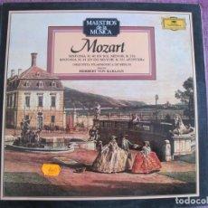 Disques de vinyle: LP - MAESTROS DE LA MUSICA - MOZART - SINFONIAS Nº 40 Y 41 (SPAIN, DEUTSCHE GRAMMOPHON 1988). Lote 221705357