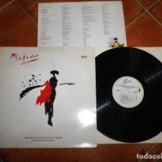 Discos de vinilo: MATADOR THE MUSICAL STORY OF THE LIFE OF EL CORDOBES LP VINILO 1987 ESPAÑA CBS GATEFOLD TOM JONES. Lote 221705776