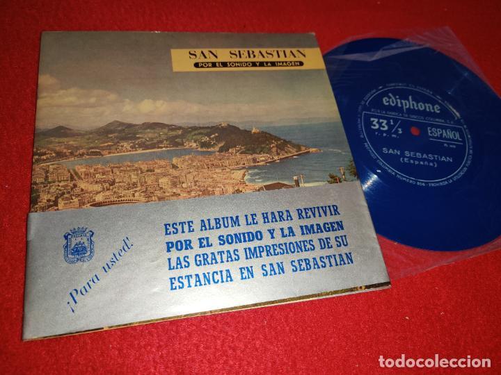 SAN SEBASTIAN FLEXI TURISTICO + LIBRETO 1961 CCC PUBLICIDAD DONOSTI (Música - Discos - Singles Vinilo - Otros estilos)