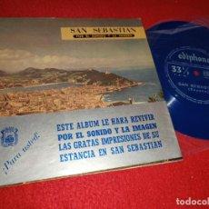 Disques de vinyle: SAN SEBASTIAN FLEXI TURISTICO + LIBRETO 1961 CCC PUBLICIDAD DONOSTI. Lote 221706495