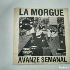 Discos de vinilo: SINGLE PROMOCIONAL LA MORGUE. AVANZE SEMANAL. EDIGSA 1982. BUEN ESTADO.. Lote 221712005