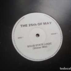 Discos de vinilo: THE 25TH OF MAY SOLID STATE LOGIC. Lote 221712848