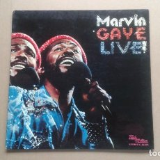 Discos de vinilo: MARVIN GAYE - LIVE ! LP 1974 EDICION ESPAÑOLA. Lote 221712915