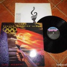 Discos de vinilo: SUMMER OLYMPICS ALBUM 1988 ONE MOMENT IN TIME LP VINILO 1988 ESPAÑA ENCARTE WHITNEY HOUSTON BEE GEES. Lote 221716317
