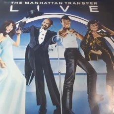 Discos de vinilo: THE MANHATTAN TRANSFER LIVE. Lote 221718920