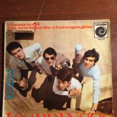 """Discos de vinilo: LOS BRINCOS 7"""" (RENACERÁ/UN SORBITO DE CHAMPAGNE). Lote 221725586"""