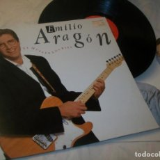 Discos de vinilo: EMILIO ARAGON - TE HUELEN LOS PIES ..LP DE 1990 - CON LETRAS. Lote 221731975