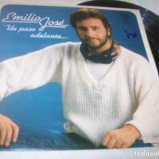 Discos de vinilo: EMILIO JOSE - UN PASO ADELANTE .. LP DE 1983 - HISPAVOX - LABEL AMARILLO RARO. Lote 221732195