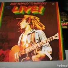 Discos de vinilo: BOB MARLEY AND THE WAILERS - LIVE ! .. LP 2ª EDICION ESPAÑOLA DE 1983 - ISLAND - ARIOLA. Lote 221732897