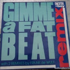 Discos de vinilo: DISCO DE VINILO DIGITAL BOY - GIMME A FAT BEAT (REMIX) 1991 BLANCO Y NEGRO. Lote 221740141