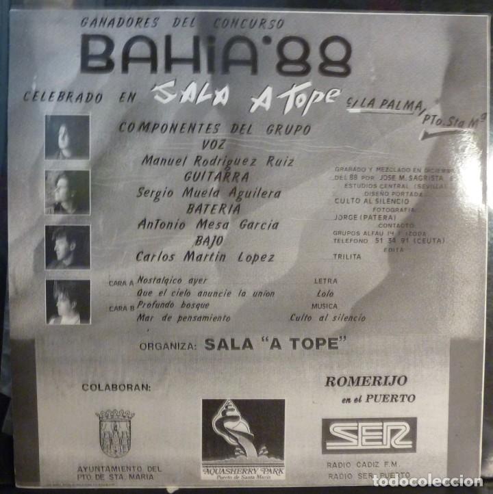 Discos de vinilo: CULTO AL SILENCIO // MAXI // 1989 // (VG VG).LP - Foto 2 - 221741113