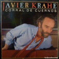Discos de vinilo: JAVIER KRAHE // CORRAL DE CUERNOS // ENCARTE // PROMO // 1985 //(VG VG). LP. Lote 221741280