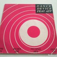 Discos de vinilo: DANCE DEVICE - DON'T GO. Lote 221741928