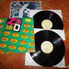 Discos de vinilo: ZONA DE BAILE DOBLE LP VINILO 1991 EMI ENCARTE ROXETTE PET SHOP BOYS DOUBLE DEE VANILLA ICE 2 LP. Lote 221742007
