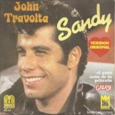 Discos de vinilo: JOHN TRAVOLTA - SANDY / ALL STRUNG OUT ON YOU (SINGLE ESPAÑOL, SAUCE 1978). Lote 221743570