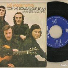 Discos de vinilo: SINGLE.VINILO. LOS MARISMEÑOS. CON LS BOMBAS QUE TIRAN. HISPAVOX HS 971. (P/C61). Lote 221744831