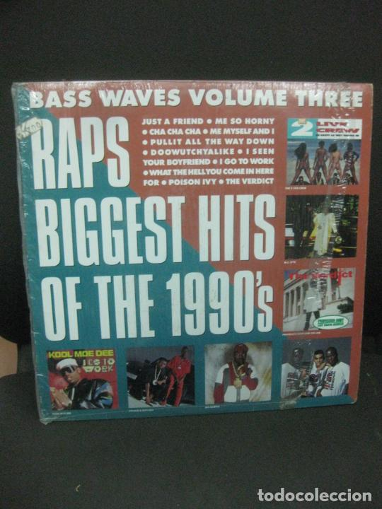 BASS WAVES VOLUME THREE. RAPS BIGGEST HITS OF THE 1990'S. LP. (Música - Discos - LP Vinilo - Rap / Hip Hop)