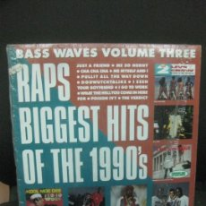 Discos de vinilo: BASS WAVES VOLUME THREE. RAPS BIGGEST HITS OF THE 1990'S. LP.. Lote 221747645