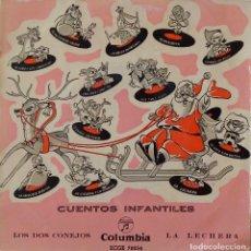 Discos de vinilo: LOS DOS CONEJOS / LA LECHERA. CUENTOS INFANTILES. CUADRO ARTISTICO RADIO MADRID. EP. Lote 221752150