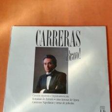 Discos de vinilo: JOSE CARRERAS ¡BRAVO! 2 X LP FUNDAS INTERIORES 1988 CIRCULO DE LECTORES PHILLIPS. Lote 221754410