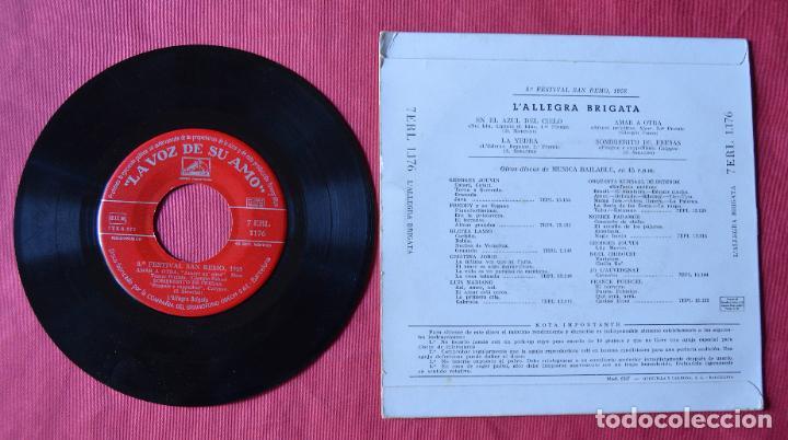 Discos de vinilo: L´ALLEGRA BRIGATA - 8º FESTIVAL DE SAN REMO 1958 - EP - LA VOZ DE SU AMO - Foto 2 - 221755333